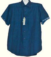 Robert Graham Dark Blue Floral Men's Classic Fit Cotton Shirt Size XL NEW