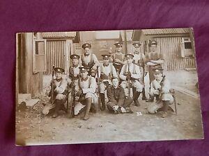 VINTAGE WW 1 ERA REAL PHOTO POSTCARD, 1st NORTHANTS REGT STATIONED AT BLACKDOWN