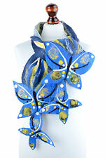 Fancy & romantic blue butterfly scarf for women, nuno felted ethereal accessory
