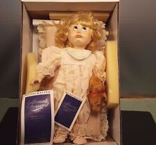 Janie by William Tung Moments Treasured Porcelain Doll W/Crib