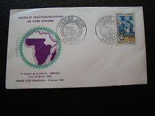 COTE D IVOIRE - enveloppe 1er jour 5/2/1962 (cy77)