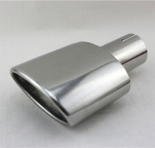 High Performance Car Chrome Single Exhaust End Oval Tip Tail Pipe 54mm