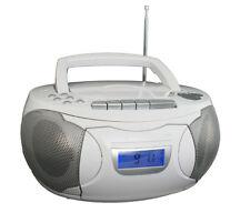 Kassettenrecorder Weiss CD Player Soundmaschine Boombox Sleeptimer Denver TCP39