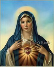 IMMACULATE HEART OF MARY 8x10 Catholic Art Print Picture Printed in Italy