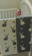 Wool Rabbit Design Baby Blanket  - JJ Textiles