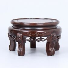 China wood Pedestal Tiger feet Rosewood Base Display stand For bottle teapot A-7