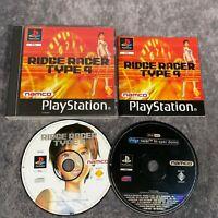 Ridge Racer Type 4 PS1 PlayStation 1 PAL Game Complete Namco + Hi Spec Demo