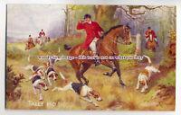 "an0592 - Fox Hunting, "" Tally Ho!!"", Artist - N.Drummond - Postcard - Tuck's"