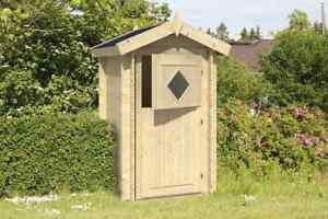 Toilettenhäuschen Banyo Aussentoilette für den Garten   Holz