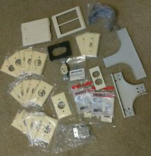 Lot of Mulberry and Wiremold covers, parts, and outlet, 20+ covers!