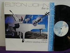 ELTON JOHN Live In AUSTRALIA 2 LP with MELBOURNE SYMPHONY ORCH NM! UNPLAYED