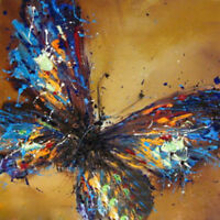 ZOPT242 100% handmade painted multi-color butterfly art OIL PAINTING ON CANVAS