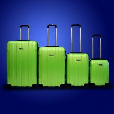 New DeBox 4PCS Luggage Travel Set Bag ABS Trolley Suitcase w/ Lock Green