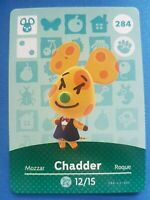 284 Chadder Animal Crossing Amiibo Card Single - Series 3 Near Mint US Version