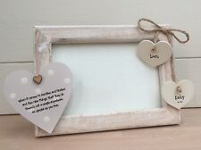 Shabby personalised Chic Photo Frame Auntie Aunty Great Aunt Uncle 6 X 4 Rustic