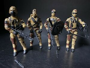 Gi Joe Black Major DESERT SCORPION AGENT X SET OF 4