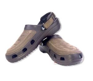 Crocs Men's espresso casual stylish comfy travel beach Yukon Vista Clog Size US9