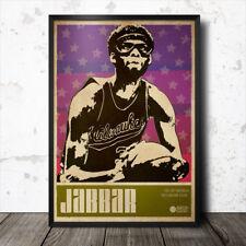 Kareem Abdul-Jabbar Baloncesto arte cartel de deportes los Angeles Lakers