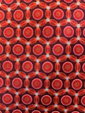 BRIONI ITALY RED CIRCLE FLORAL BEAUTIFUL HAND MADE SILK NECKTIE TIE HSE1820