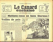 Le CANARD ENCHAINE numero 2109 du 22 mars 1961