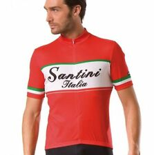 Santini Polyester Cycling Jerseys with Half Zipper