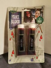2 Fake Blood Tube Zombie Horror Wounds Scabs Halloween Party Stage Makeup Paint