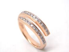 NUOVO Anello Brillanti 750 18 carati oro rosa GUARNIZIONE 0,24 ct TW/Argento