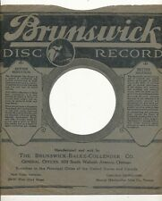 78 RPM Company logo sleeves-BRUNSWICK Disc Record