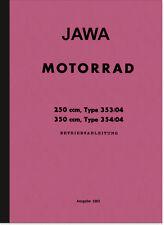 Jawa 250 350 ccm 1962 Typ 353 354 Bedienungsanleitung Betriebsanleitung Handbuch