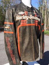 Harley Davidson HALF MILE Leather Racing Jacket Men's 2XL Perforated
