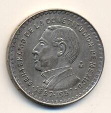 MEXICO 10 pesos - silver, 1957, XF
