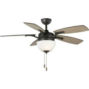 "Progress Lighting Olson 5-blade 52"" Ceiling Fan, Light Kit, Graphite - P2598-143"