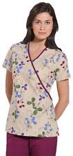 Scrub Hq Women's New Patch Pockets V Neck Short Sleeve Mock Wrap Scrub Top. 4826