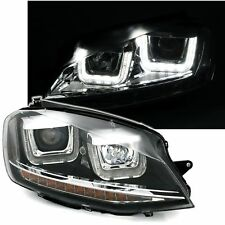 2 PHARES DEVIL EYES VW GOLF 7 BERLINE SW 11/2012 A 1/2017 NOIR U LED