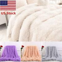 US 130*160cm Long Shaggy Super Soft Throw Blanket Fluffy Faux Fur Cozy Sheet OCC