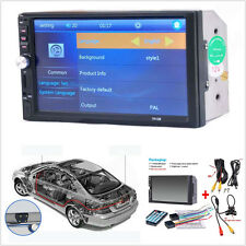 "7"" 2-Din Car Video Player LCD Touch Screen Audio Stereo MP5 FM Bluetooth &Camera"