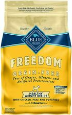 Blue Buffalo Freedom Grain Free Natural Dog Food Chicken Peas Potatoes 4lb
