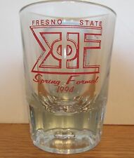 FRESNO STATE   SPRING FORMAL 1994   HEAVY TEARDROP SHOT GLASS