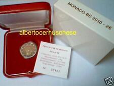 MONACO 2 euro 2010 Fs fondo specchio BE PP proof Alberto Albert 摩纳哥 モナコ Монако