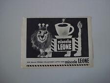 advertising Pubblicità 1961 MISCELA LEONE