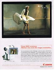 PUBLICITE ADVERTISING  2000   CANON  MV3 numérique
