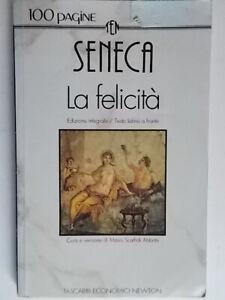 La felicitàSenecaNewton testo latino fronte Scaffidi Abbate filosofia roma 83
