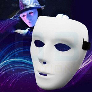 DIY Full Face Mask Party Cosplay Costume Carnival Mask Dance Paintable Props