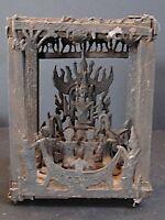 """Antique Autel """"adoration de Bouddha"""" en Bois et Métal, BIRMANIE"""