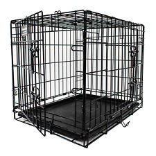 """24"""" Dog Pet Rabbit Cage Puppy Training Crate Carrier - Premium Heavy Duty Wire"""