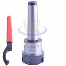 Precision MT3 ER32 M12 Collet Chuck holder CNC Milling Morse taper #3 Spindle