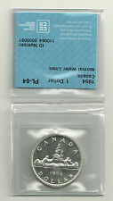 1954 Canada  80% Silver Dollar CCCS PL-64 Mintage 246,606