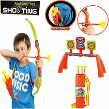Kids Bambini Bow & Arrow Archery Set giocattolo target SHOOTING miglior gioco regalo di Natale