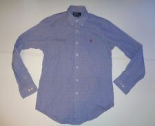 "Ralph Lauren blue checks shirt  15.5"" / 39 medium mens Custom Fit NEW - S5374"