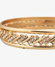 FOREVER 21 crystal rhinestone bangle bracelet  NWT gold